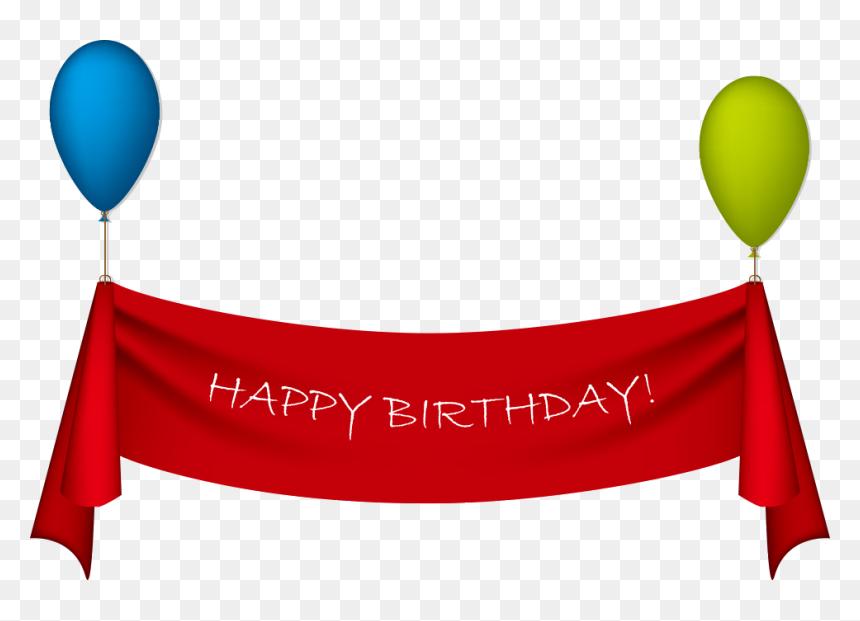 Birthday Ribbon Greeting Card Clip Art - Happy Birthday Banner Png, Transparent Png