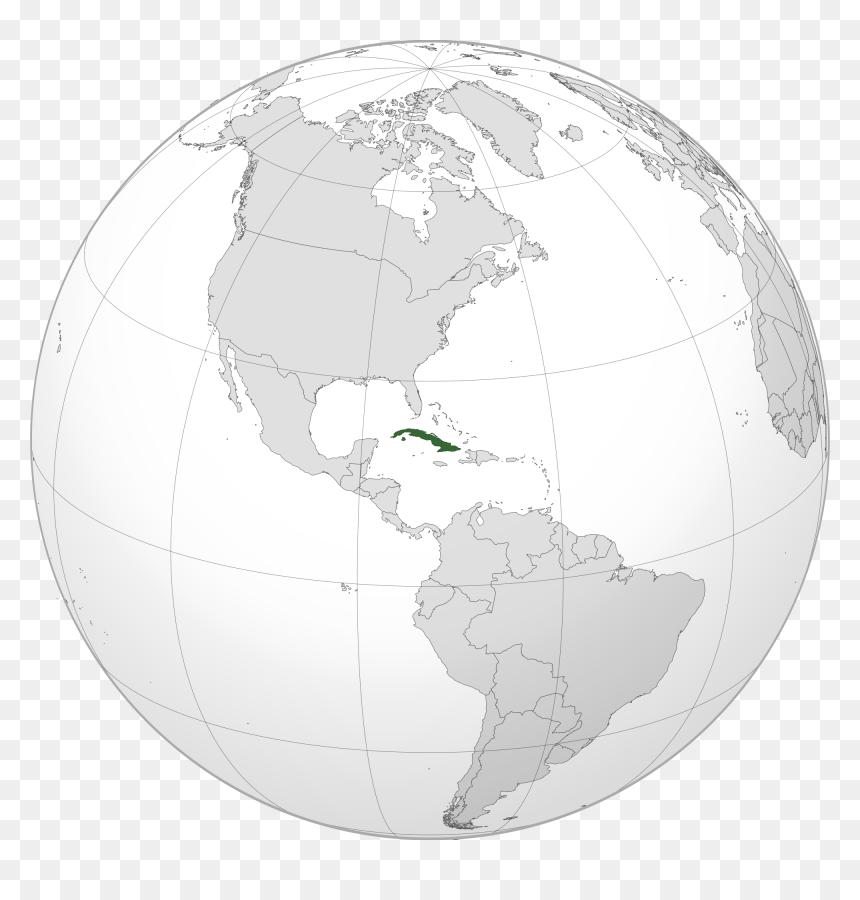 Location Of The Cuba In The World Map - Ubicacion De Cuba En El Mundo, HD Png Download