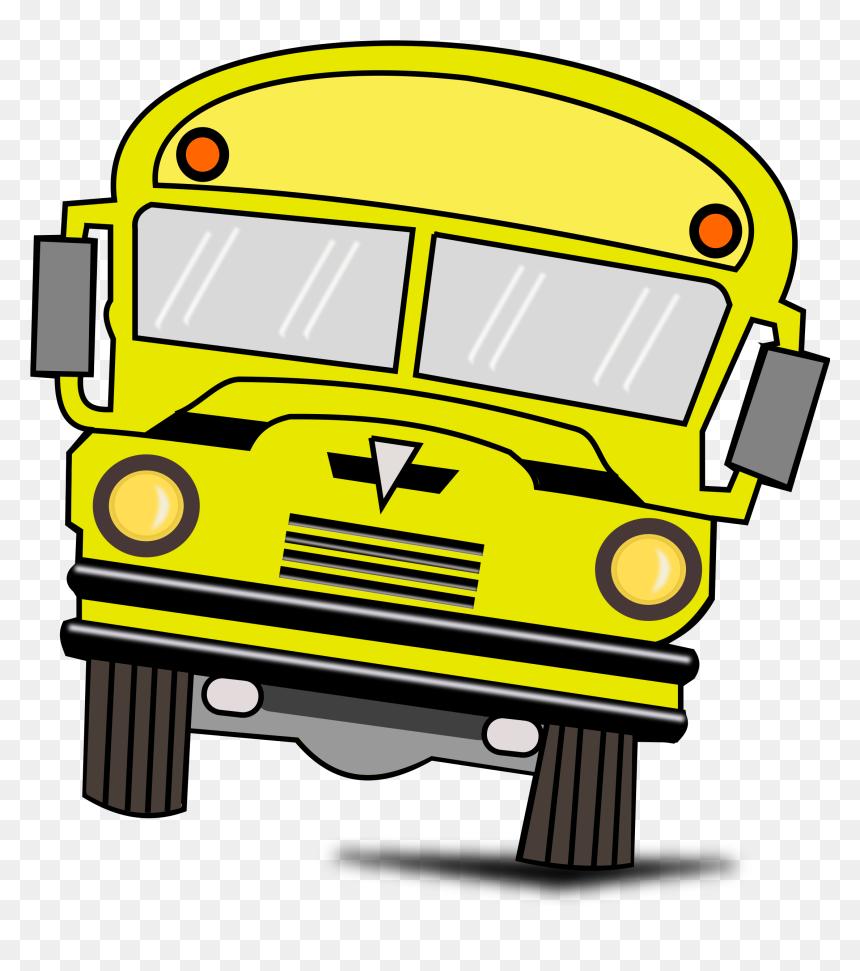 Red School Bus Clipart Png Download Onibus Desenho- - Bus Buddies, Transparent Png