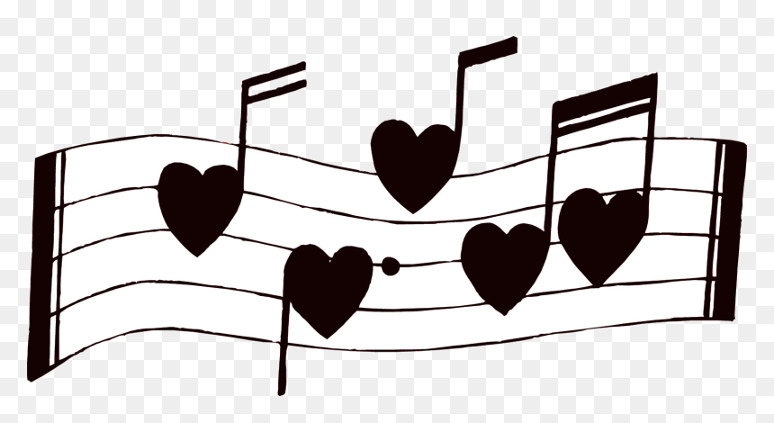 Coloring Book Outstanding Freelipart Music Notes Image - Music Notes Heart Clipart, HD Png Download