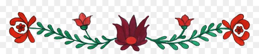 Clipart Border Design Flower Png, Transparent Png