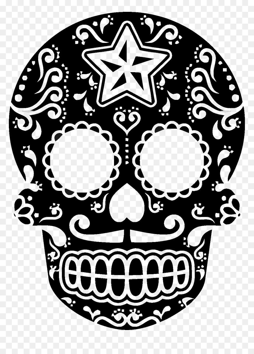 Dia De Muertos Skull Png - Dia De Los Muertos Svg, Transparent Png