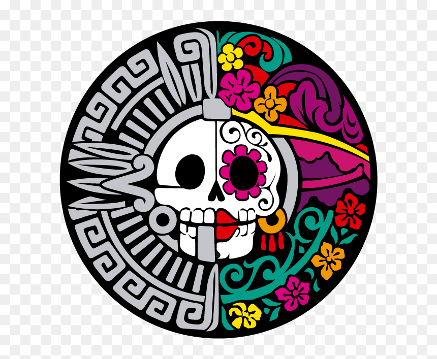 Graphic Library Library Catrina Drawing Colorful - Catrina Drawing, HD Png Download