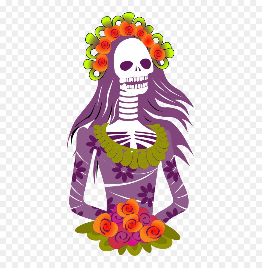 Day Of The Dead Clipart Mexican Celebration - Dias De Muertos .png, Transparent Png