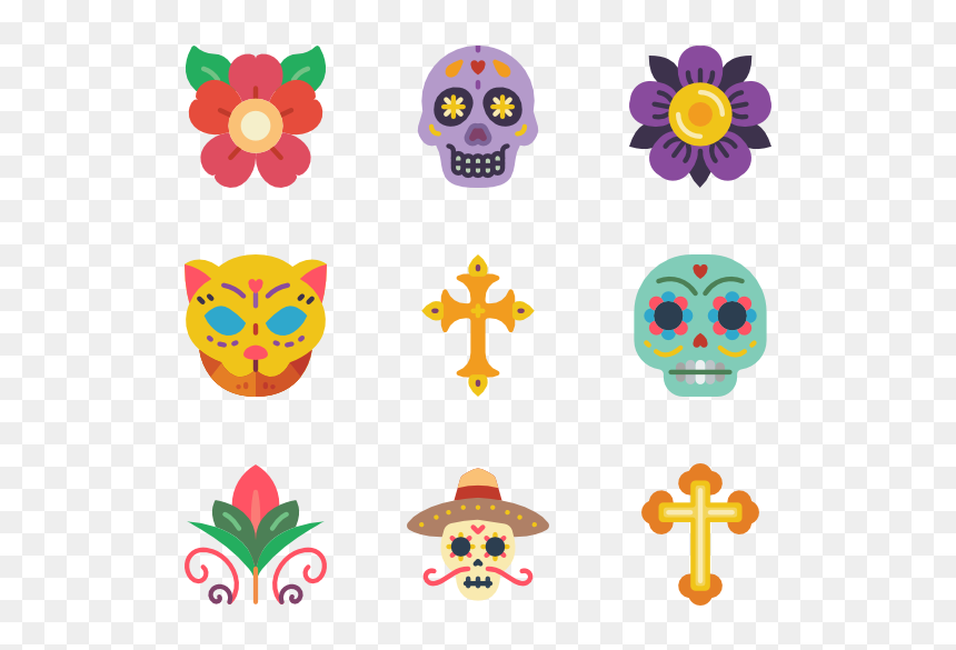 Day Of The Dead Flowers Svg, HD Png Download