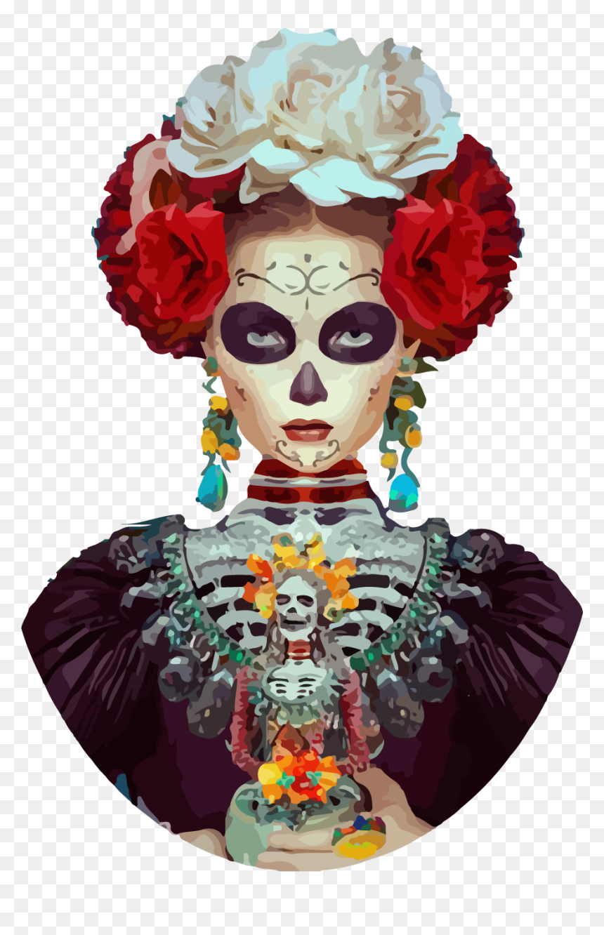Frida Kahlo Day Of The Dead Painting, HD Png Download