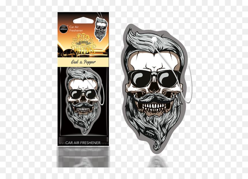 Aroma Car Air Freshener Skull, HD Png Download