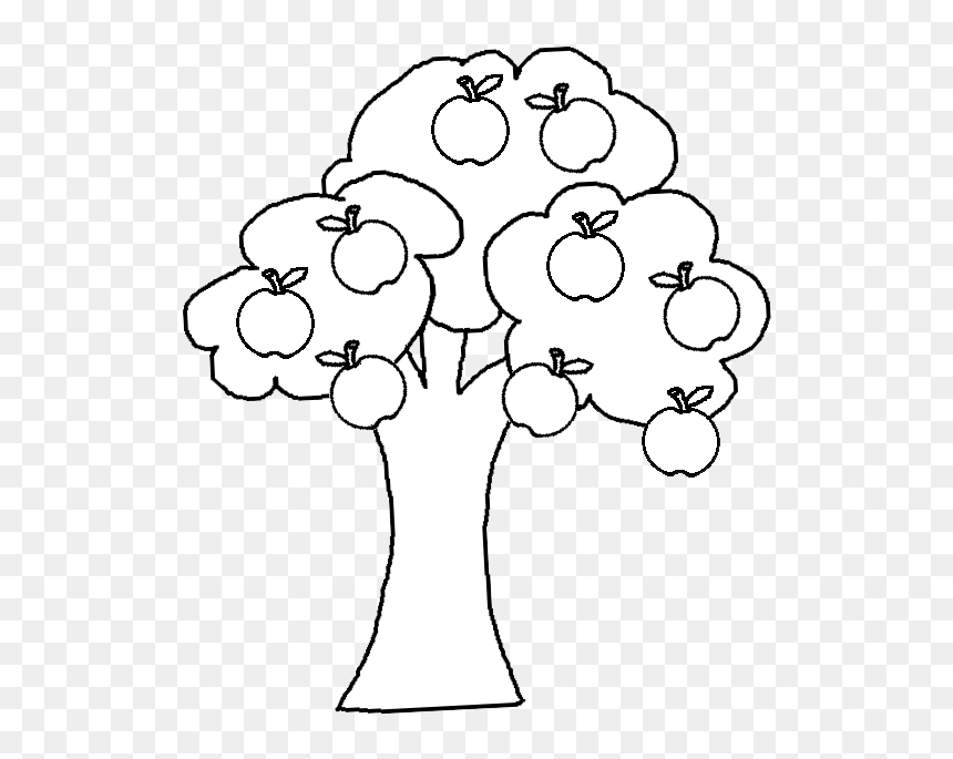 Black And White Cartoon Illustration Of Apple Tree Outline Apple Tree Clipart Hd Png Download 532x605 Png Dlf Pt Tree christmas for holiday, green pine with garland illustration. outline apple tree clipart hd png