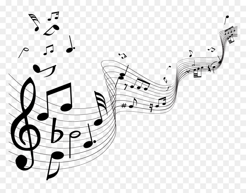 Musical Note Musical Instrument Illustration - Music Notes Vector Png, Transparent Png