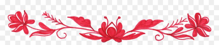 Floral Flower Border Png, Transparent Png