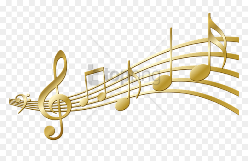 Free Png Download Color Music Notes Png Png Images - Gold Music Notes Transparent, Png Download