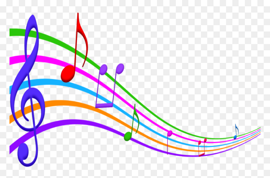 #music #notes #scale #colorful #musicnotes #natnat7w - Color Musical Notes Clipart, HD Png Download