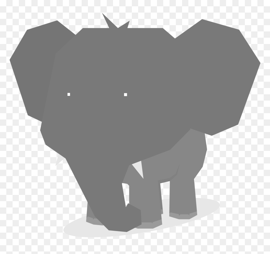 Elephant Minimal Flat Design Animal Clip Arts - Clip Art, HD Png Download