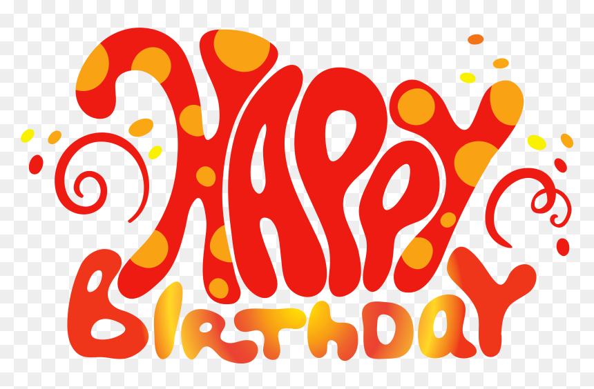 Birthday Png Effects - Happy 1st Birthday Text, Transparent Png