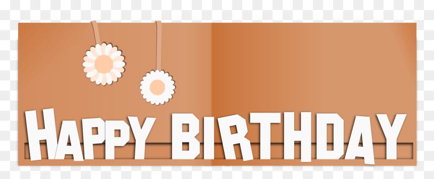 Happy Birthday Paper Card Clip Arts - Graphic Design, HD Png Download