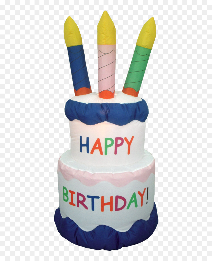 Birthday Cake With Candles - Outdoor Inflatable Birthday Cake, HD Png Download