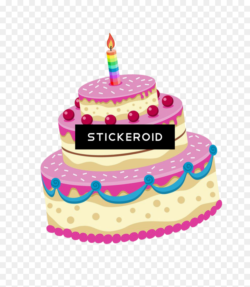 Happy Birthday Cake Stickers , Png Download - Happy Birthday Cake Sticker, Transparent Png