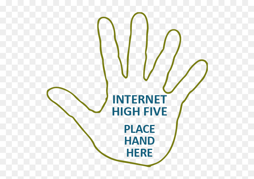 Outline Of Hand With Text Inside Of Hand Reading Internet Internet High Five Hd Png Download 615x581 Png Dlf Pt From wikimedia commons, the free media repository. dlf pt