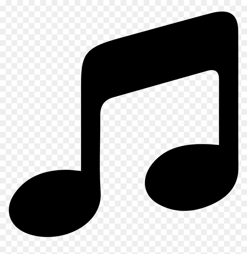 Transparent White Music Notes Png - Music Icon Black And White, Png Download