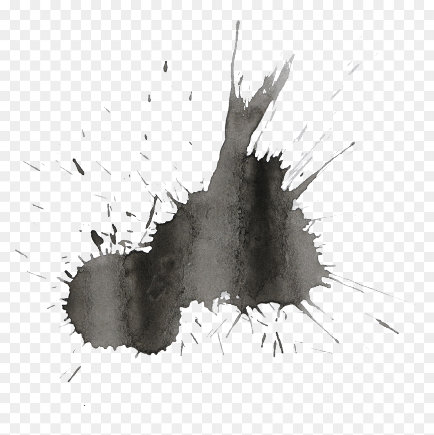 Black Watercolor Splatter - Joker Colour Pencil Drawing, HD Png Download