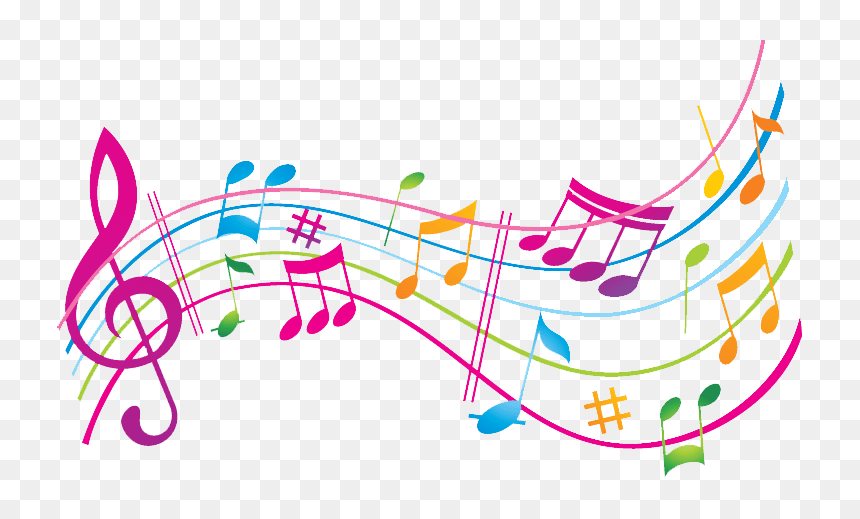 Colorful Music Note Transparent Background , Png Download - Music Notes Colorful, Png Download