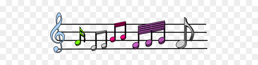Colorful Musical Notes Vector Image - Colorfulmusic Notes Png, Transparent Png