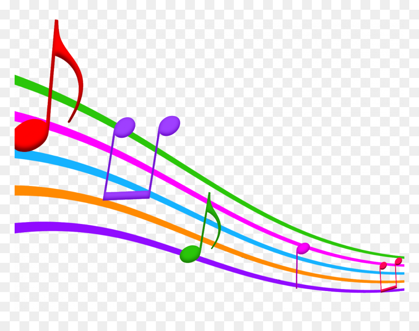 Music Note Clip Art - Colored Musical Notes Clip Art, HD Png Download
