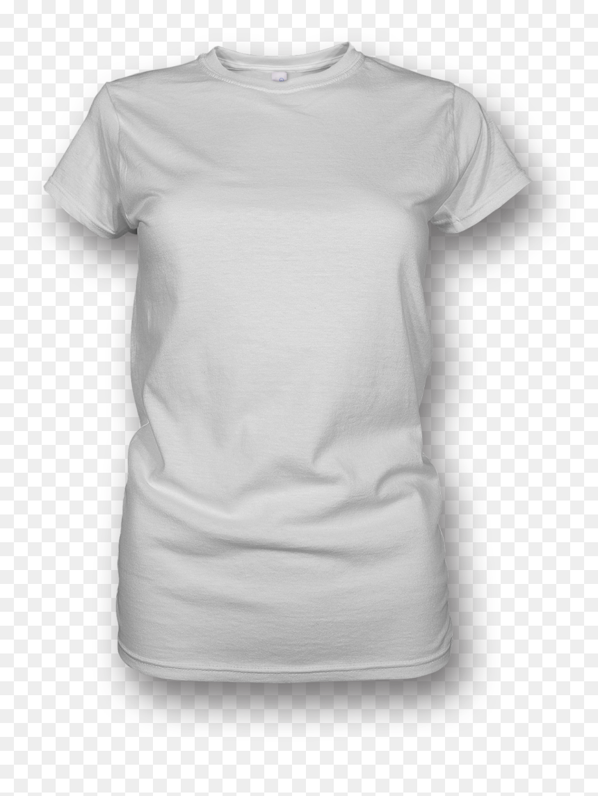 Blank White T Shirt Png - White T Shirt Women Png, Transparent Png