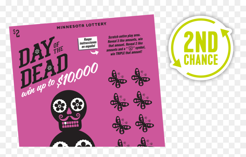 728 Day Of The Dead 2ndchance Main - Day Of The Dead Minnesota Lottery, HD Png Download