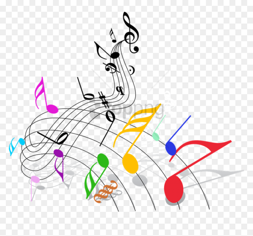 Free Png Download Music Notes Border Png Png Images - Colorful Music Notes Clipart, Transparent Png