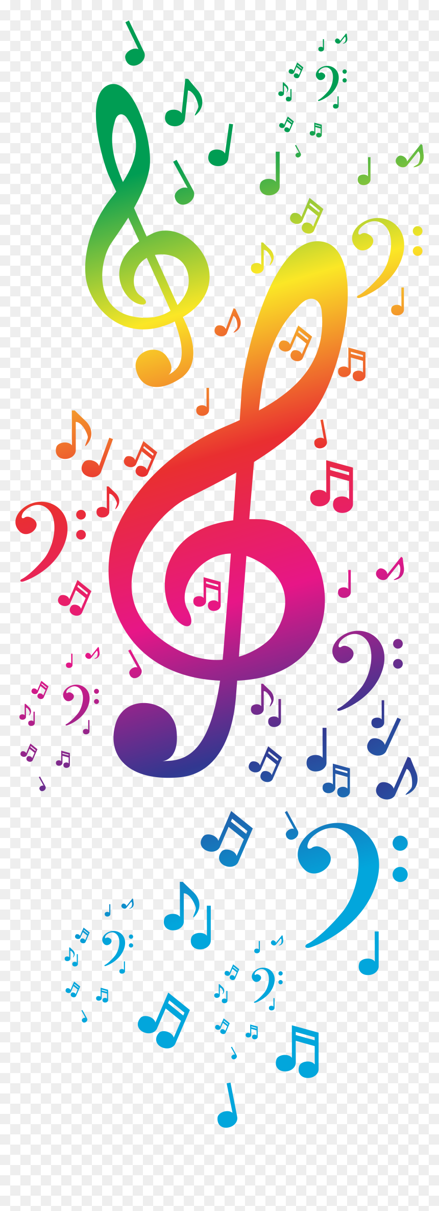 4570book - Colorful Music Notes Clipart Free, HD Png Download