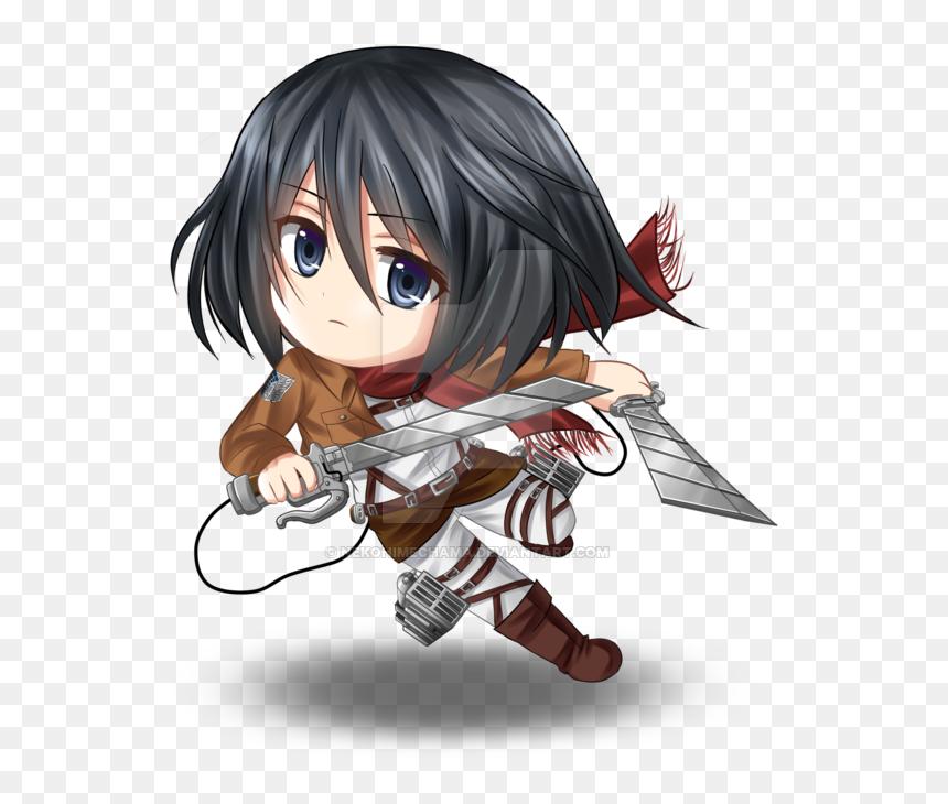 28 Collection Of Mikasa Chibi Drawing Mikasa Ackerman Hd Png Download 553x650 Png Dlf Pt