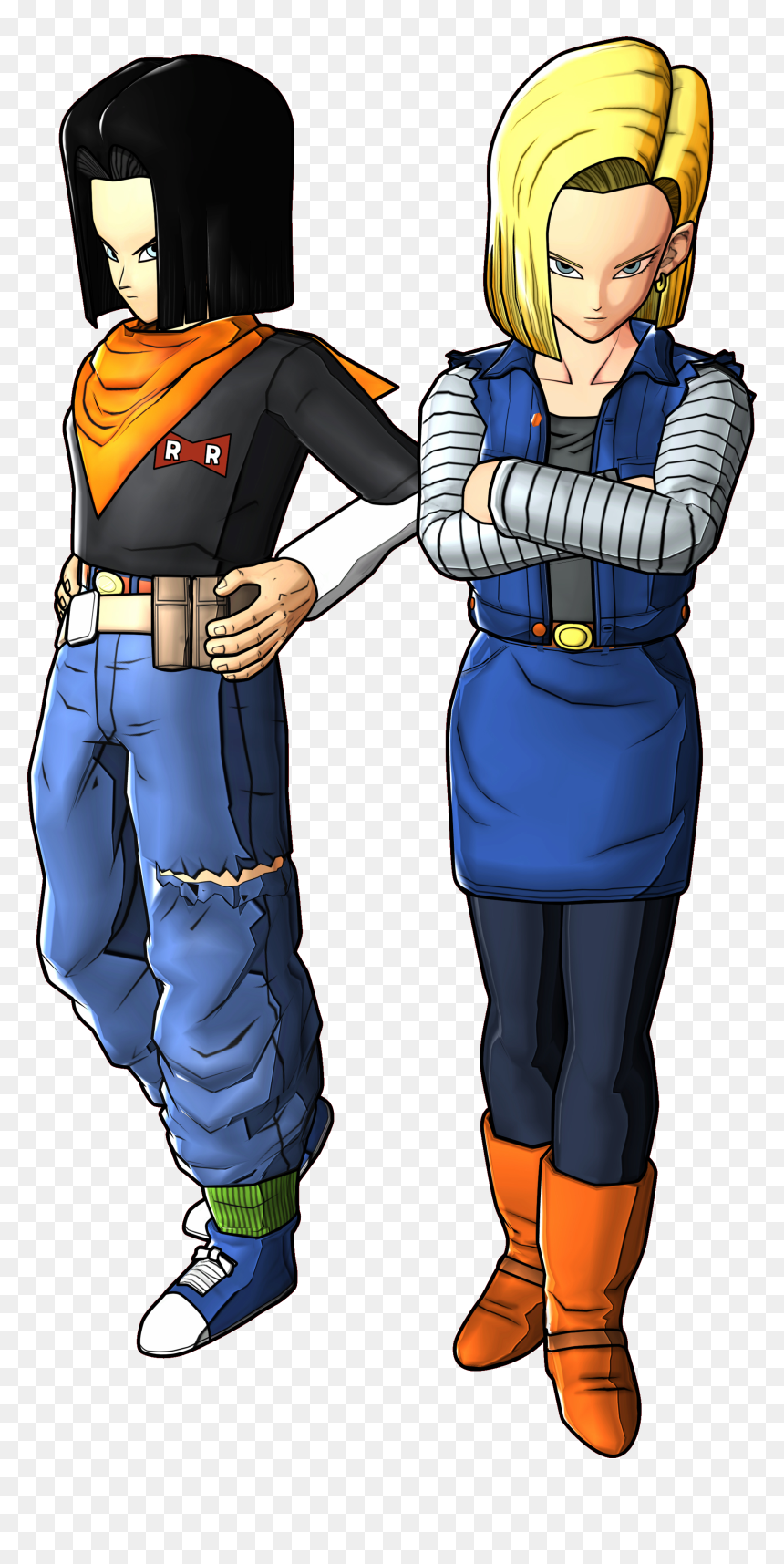 Android18 And 17 Battle Of Z Render - Android 18 And 19, HD Png Download