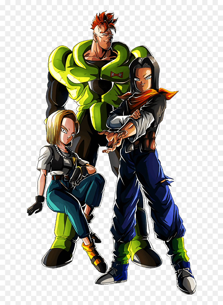 Lr Androids 16 17 And 18, HD Png Download