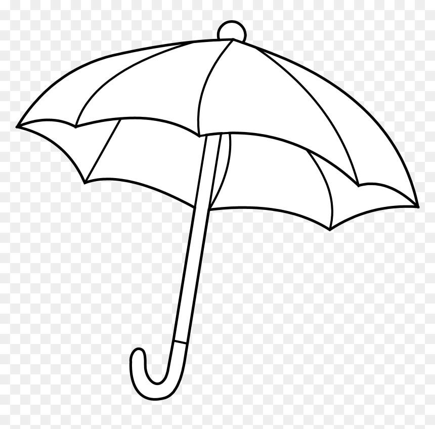 Umbrella Coloring Page Png Images Clipart - Black Background Umbrella Png, Transparent Png