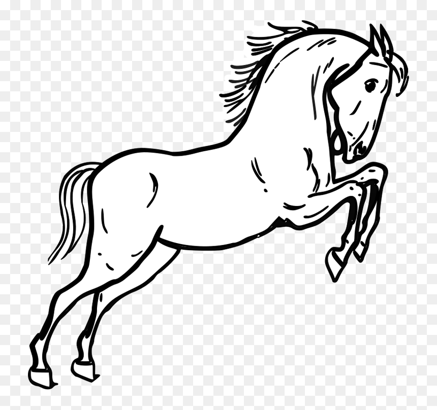 Horse Coloring Pages - Mustang Horse Coloring Page, HD Png Download