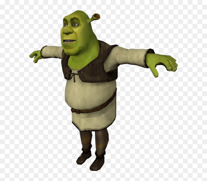 Shrek T Pose Png Transparent Png 800x693 Png Dlf Pt