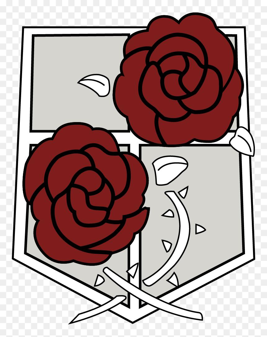 Attack On Titan Symbol - Attack On Titan Rose Logo, HD Png ...