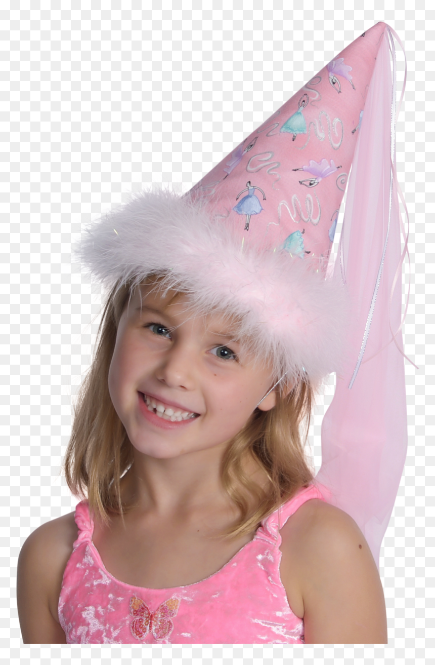 Fairy Princess Hat With Unicorn Print And Veil And - Party Hat, HD Png Download