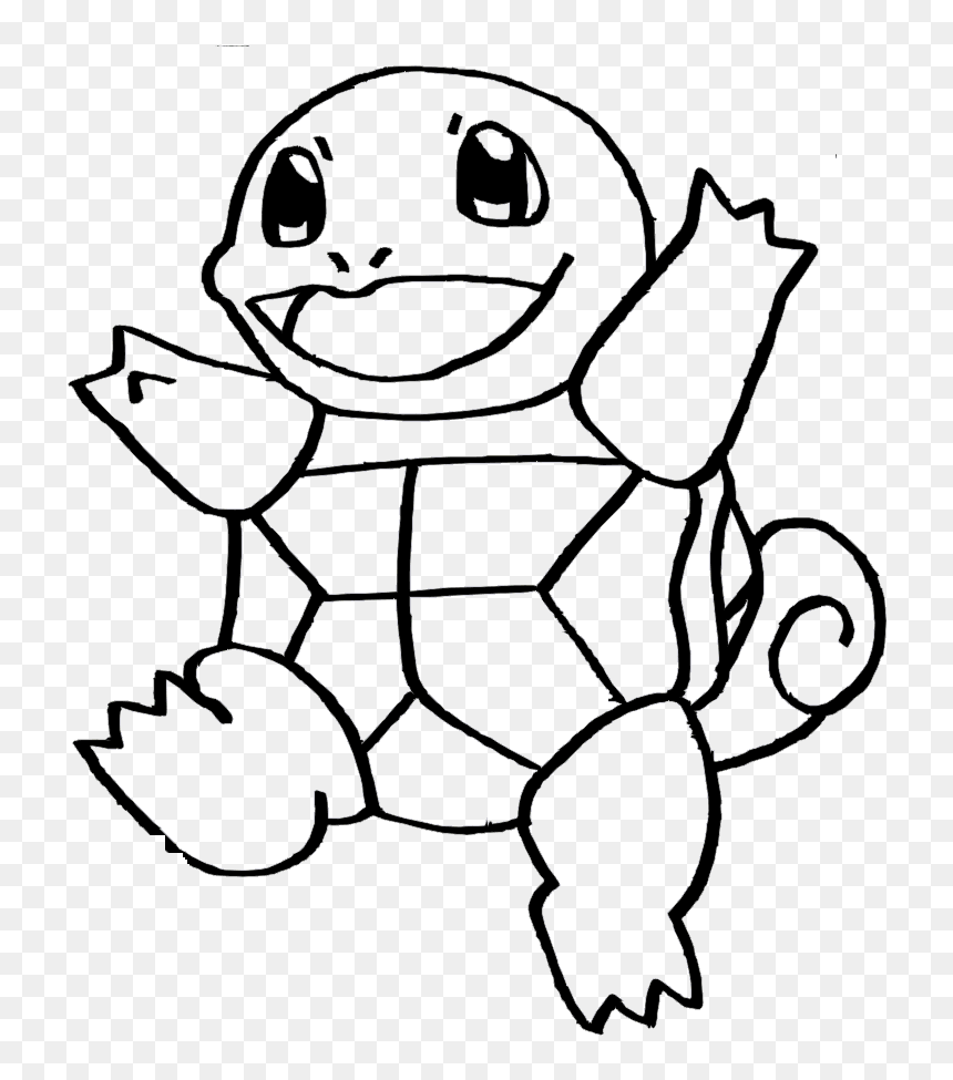 Squirtle Vinyl 280 X - Pokemon Squirtle Coloring Pages, HD Png Download