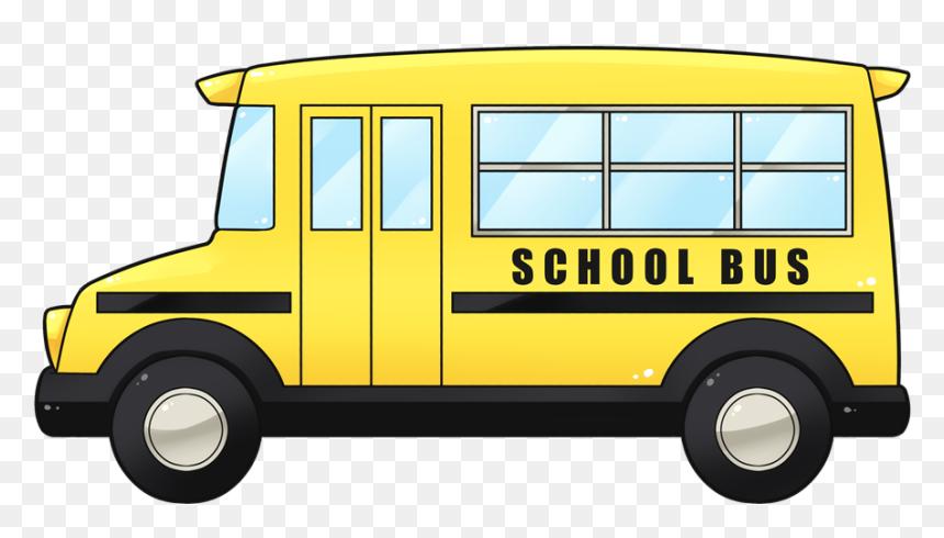 Clipart Door School Bus - Small School Bus Clip Art, HD Png Download
