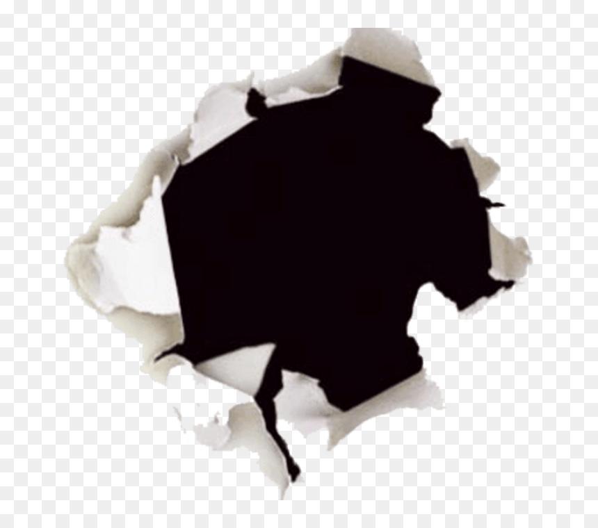 Bullet Hole Paper Png, Transparent Png