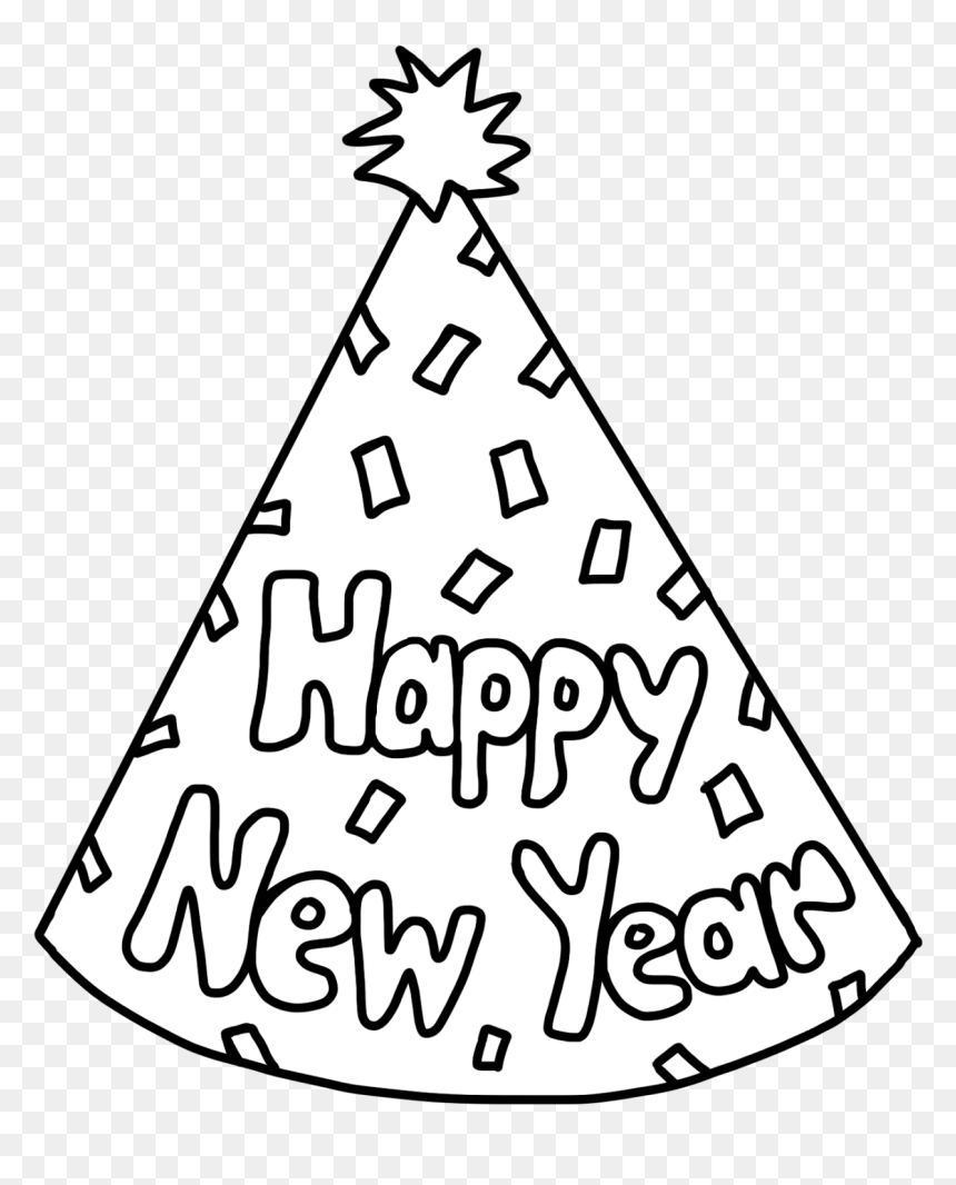 New Years Clipart Black And White, HD Png Download