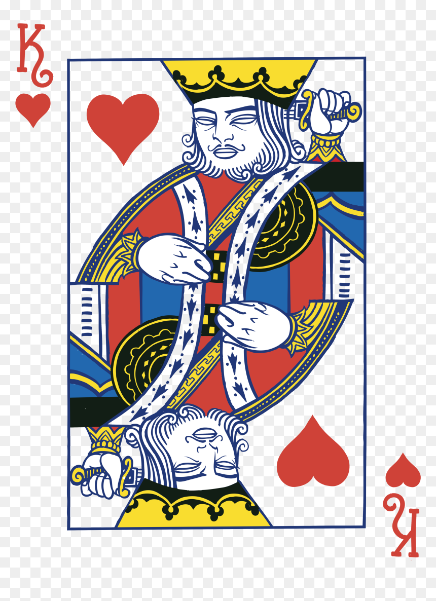 King Of Hearts Png - King Of Hearts Card Png, Transparent Png