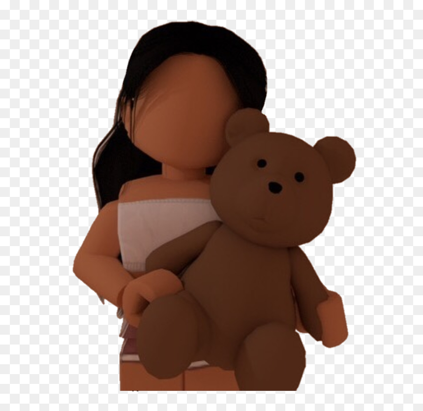 #roblox #girl #gfx #png #bloxburg #teddyholding #cute - Cute Aesthetic Roblox Gfx, Transparent Png