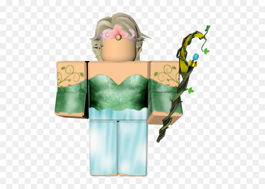 Green Avatar In Roblox Girl, HD Png Download