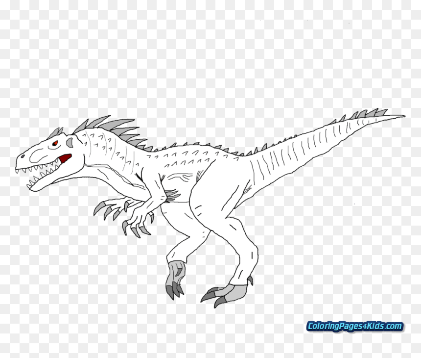Jurassic World Indominus Rex Coloring Pages ...
