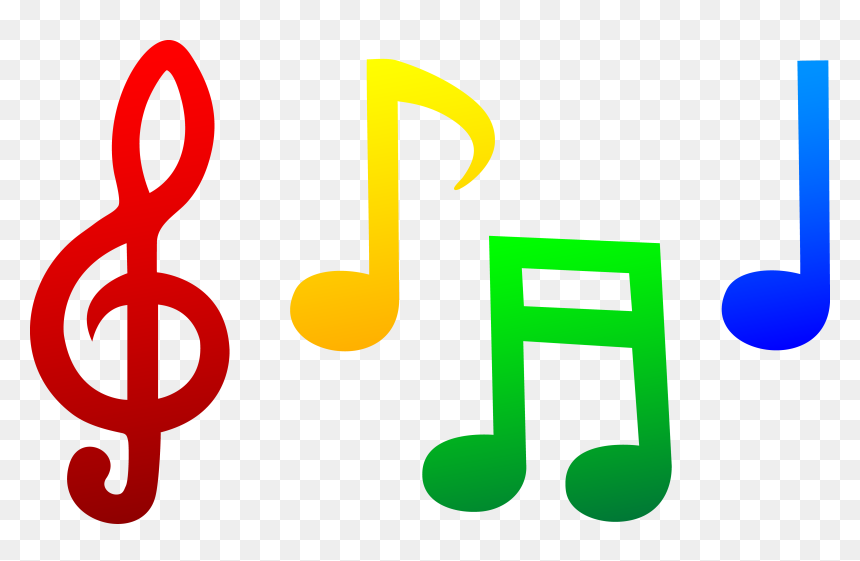 Free Music At Getdrawings - Colored Music Notes Clipart, HD Png Download