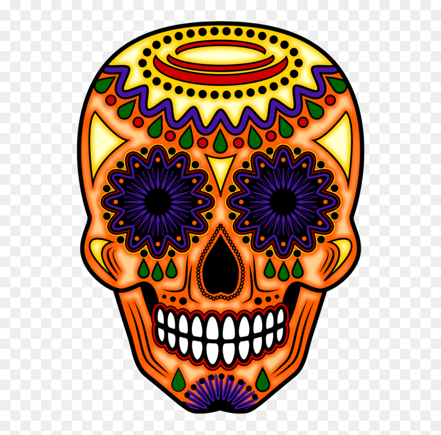 Day Of The Dead Orange, HD Png Download