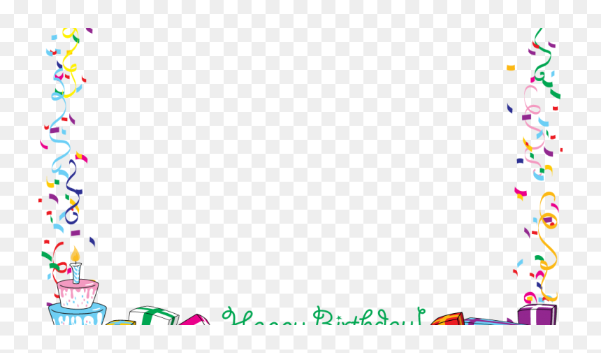 Happy Birthday Border Png, Transparent Png